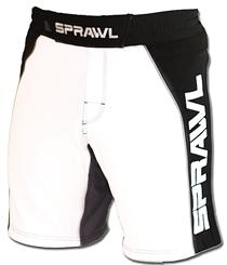 Fusion II Stretch Series White and Black MMA Shorts